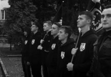 Адександр Оршулевич (справа) - лидер и активисты БАРСа