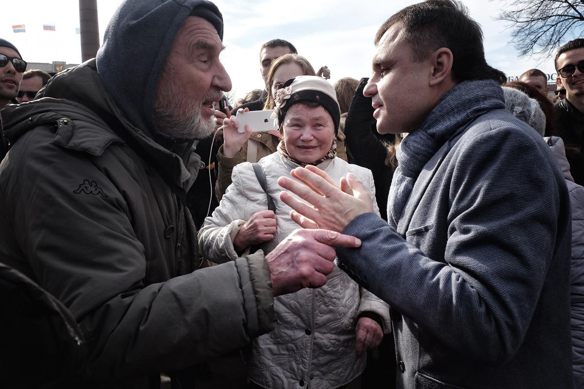 Димонответит митинг. Фото Олега Климова для PREGEL.INFO