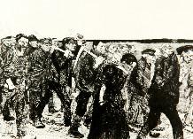 Кете Кольвиц. «Выступление ткачей». Из серии «Восстание ткачей», 1897, офорт