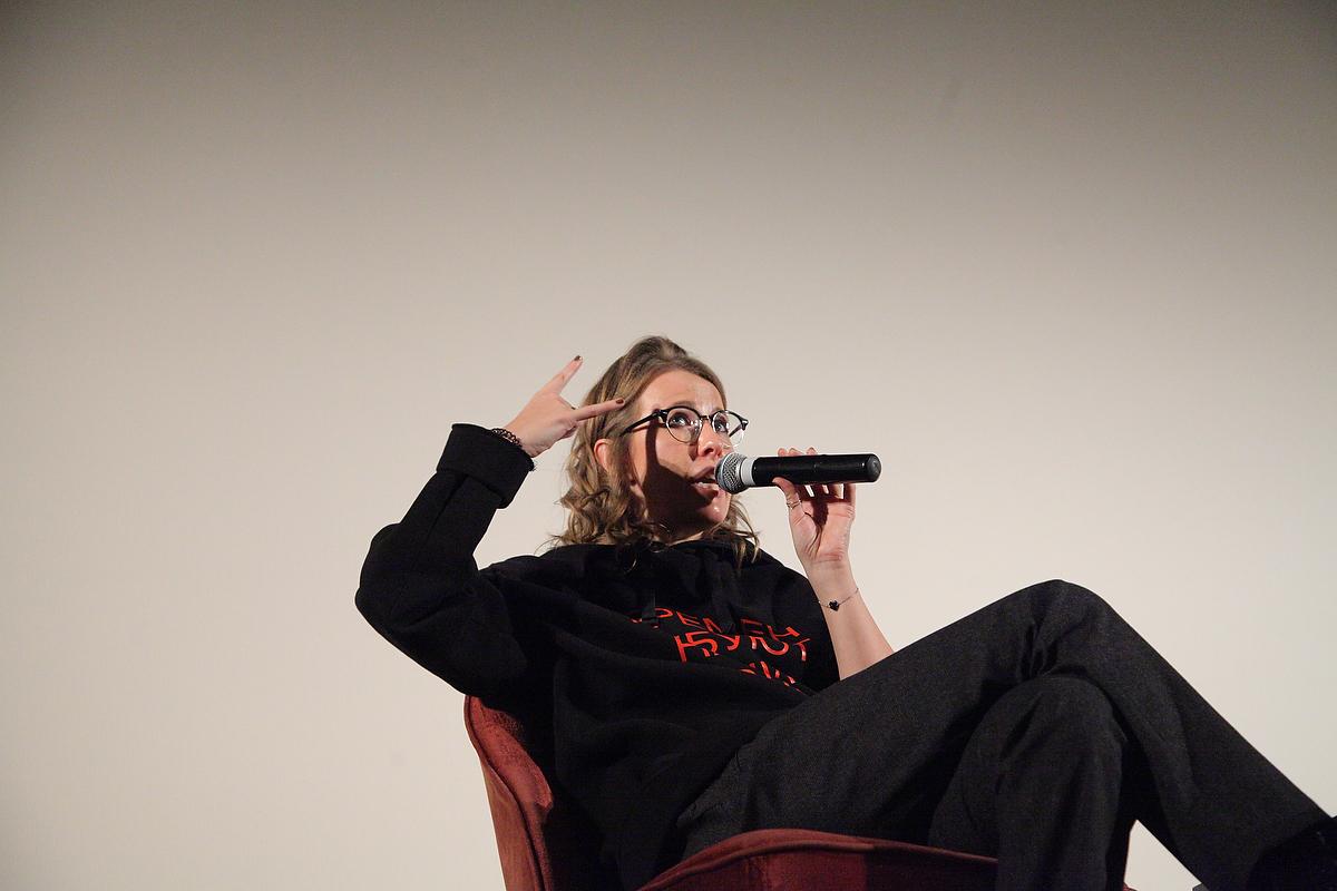 Ксения Собчак в Калининграде. Фото: Юлия Бабенко для PREGEL.INFO
